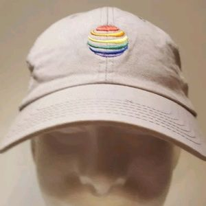 Rainbow detailed grey hat with mesh back adjustabl